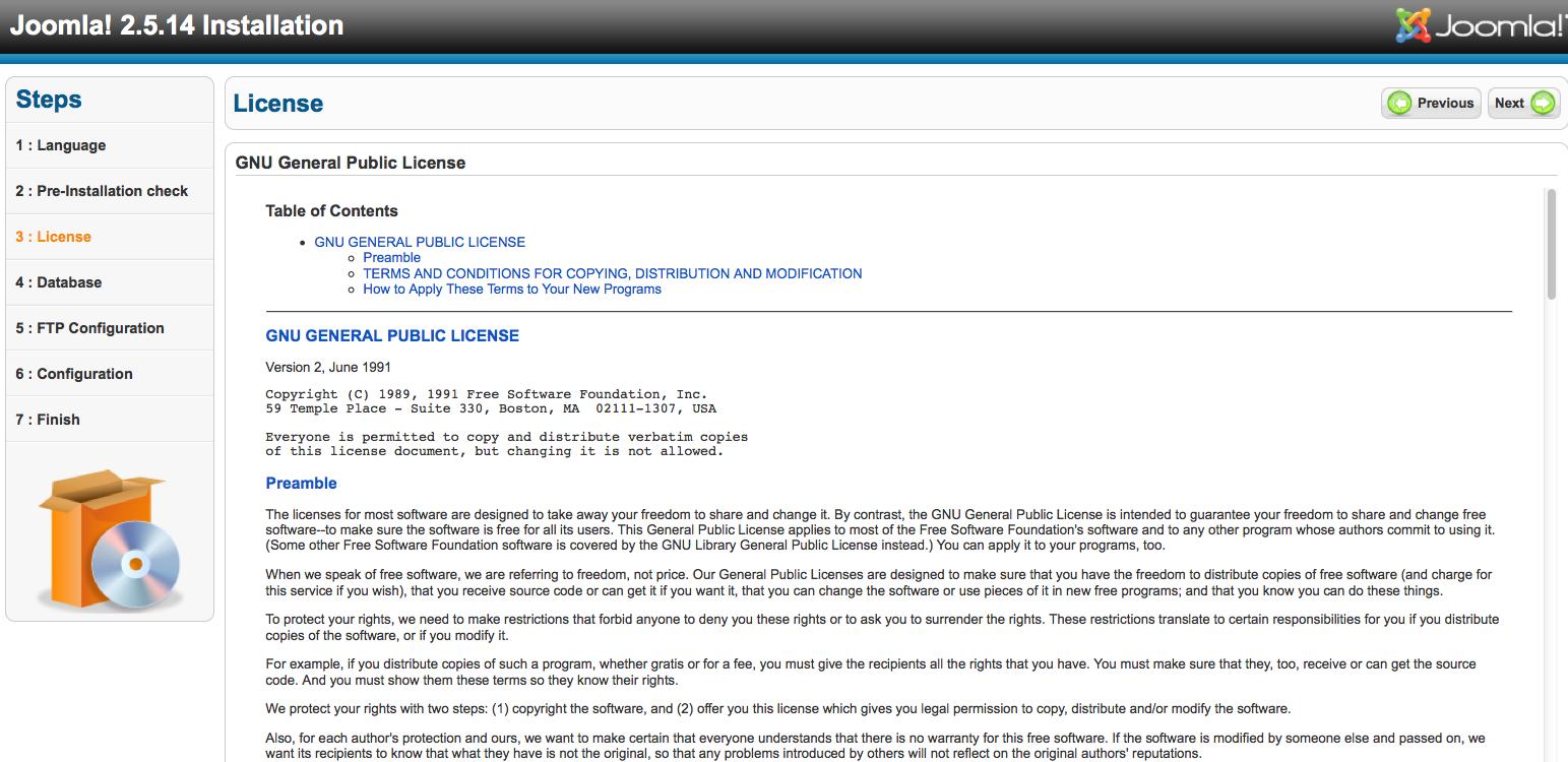 Install Joomla! 2.5