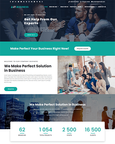 LT Business Onepage – Free One Page Responsive Business Joomla template