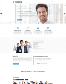 LT Business – Free Business / Corporation Joomla! template