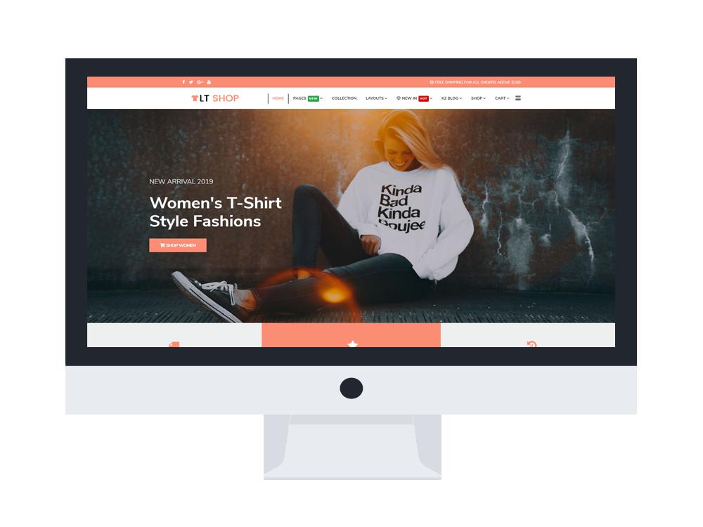Online store Joomla free template