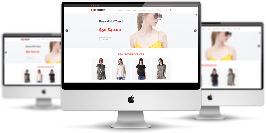 lt shop free online store hikashop joomla template