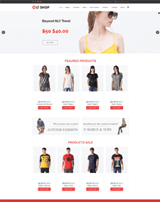 LT Shop – Free Responsive Online Store / Clothes Shop WordPress theme