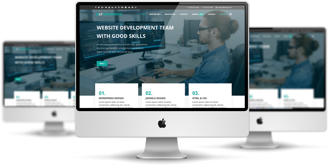 Lt Web Design Onepage Free One Page Responsive Web Design Joomla Template