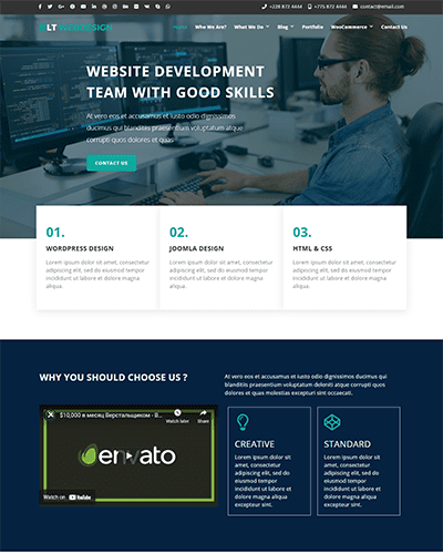 LT Web Design Onepage – Free Responsive Business / Web Design WordPress theme