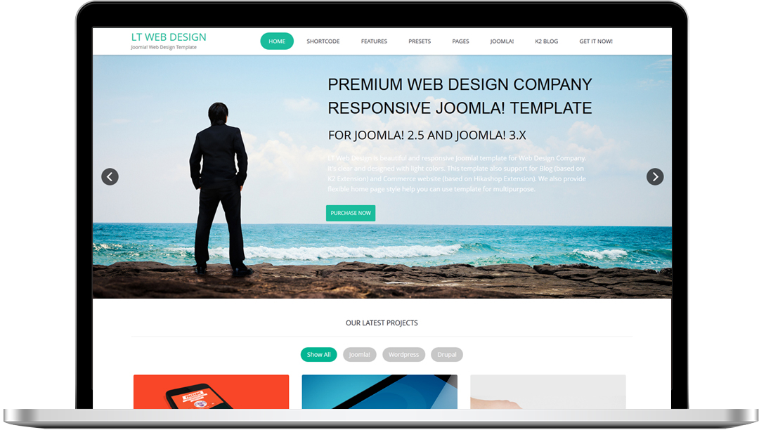 FREE] LT Web Design – Free Responsive One Page Web Design Joomla ...
