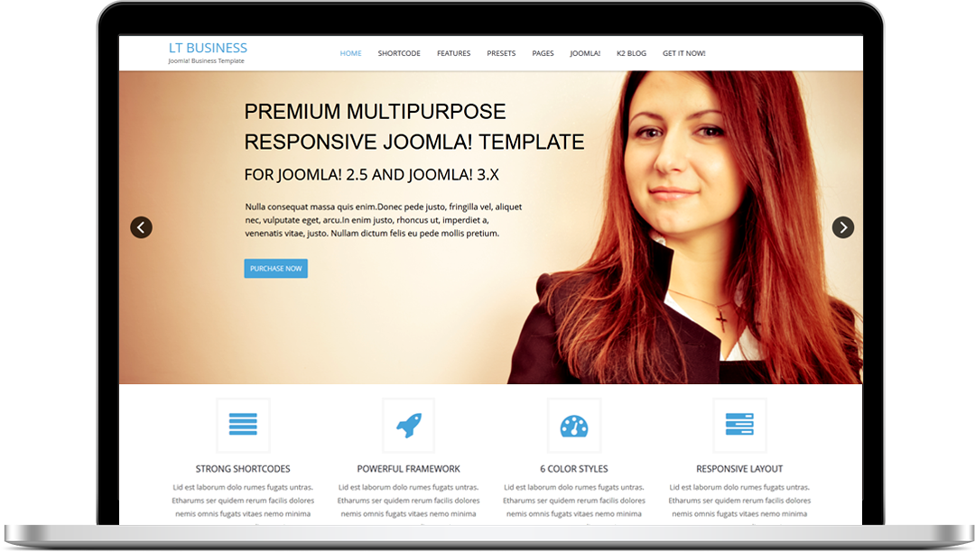 Free lt business free responsive one page business joomla lt business builds with 6 color styles if you like another color without 6 default color styles you can change it via template settings easily with friedricerecipe Choice Image