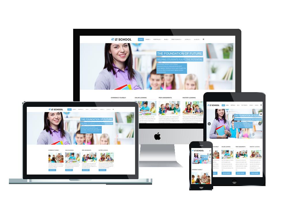 LT School - Free Education, University, School Joomla template