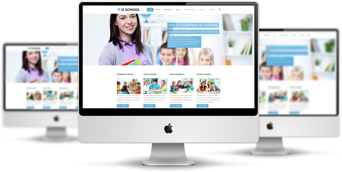 Lt school free education university school joomla template lt school mockup maxwellsz