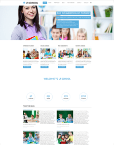 LT School Onepage – Free Responsive College / University Onepage WordPress theme