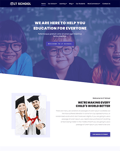 LT School Onepage – Free One Page Responsive Education / University / School Joomla template