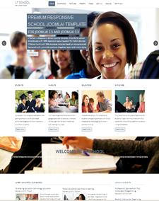 LT School Onepage – Free One Page Responsive Education / University / School Joomla template