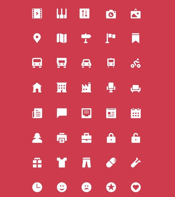 The Icons: 100 Free Icons Download