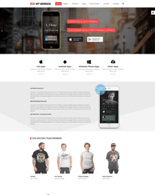 LT App Showcase Onepage – Free Single Page Responsive App Showcase Onepage WordPress theme