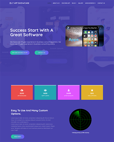 LT App Showcase – Free Joomla App Showcase template