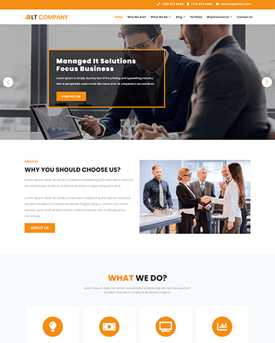 LT Company – Free Responsive business wordpress themes