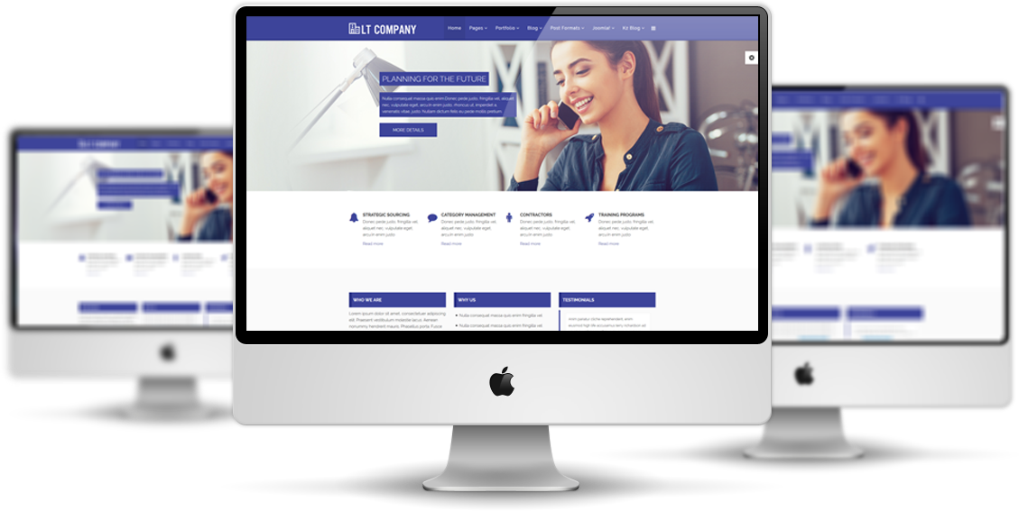 Lt company free joomla business template lt company mockup wajeb Image collections