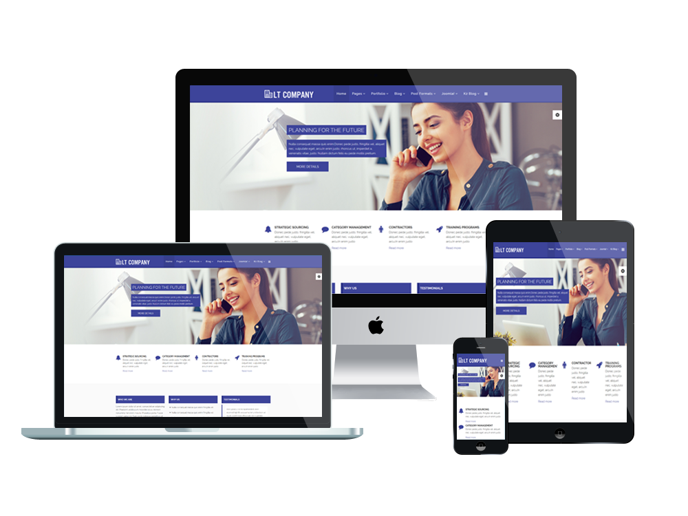 Lt company onepage free corporation company onepage joomla template its mobile friendly wajeb Images