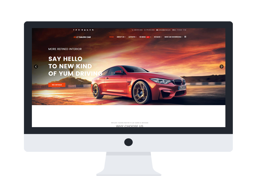 car dealer joomla website template free download