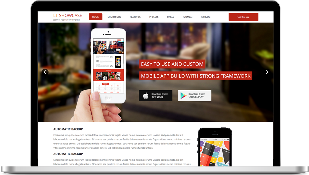 Free lt app showcase free responsive one page app showcase free lt app showcase free responsive one page app showcase joomla template webmaster forum pronofoot35fo Image collections