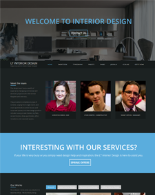 LT Interior Design Onepage – Free Responsive Furniture / Interior Design Onepage WordPress theme