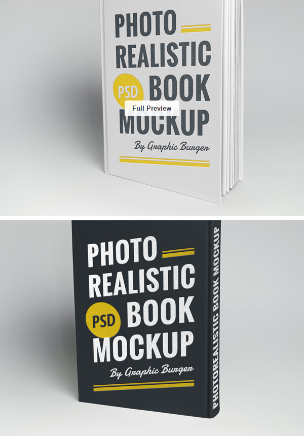 PSD Source Hardcover Book MockUp