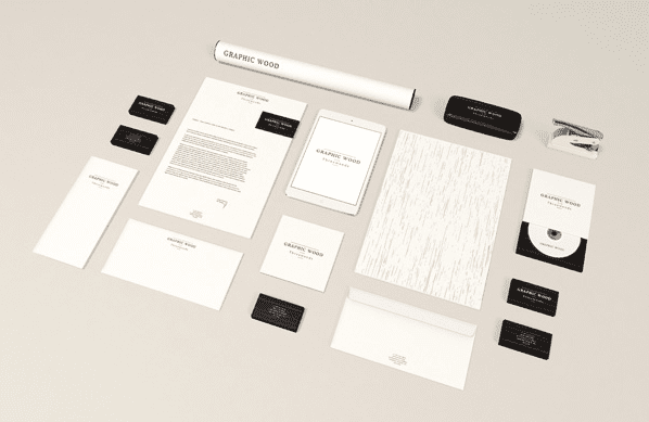 Wood Edition – Stationery MockUp Free PSD Download