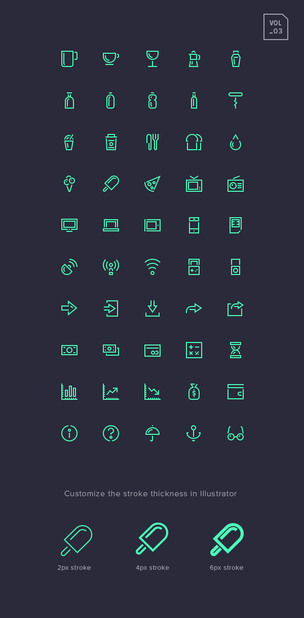 Stroke Gap Icons