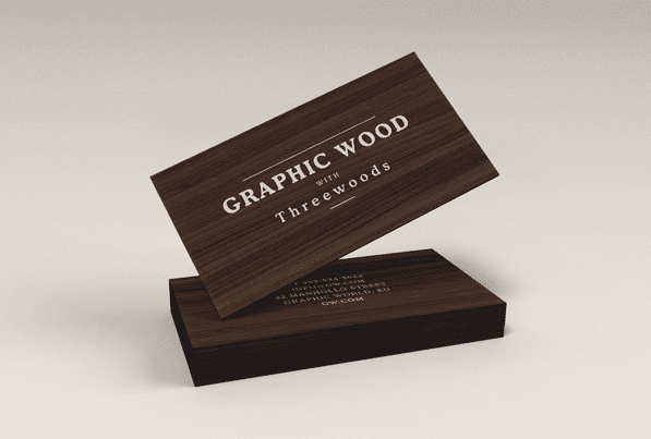 Wooden Free Business Card Templates