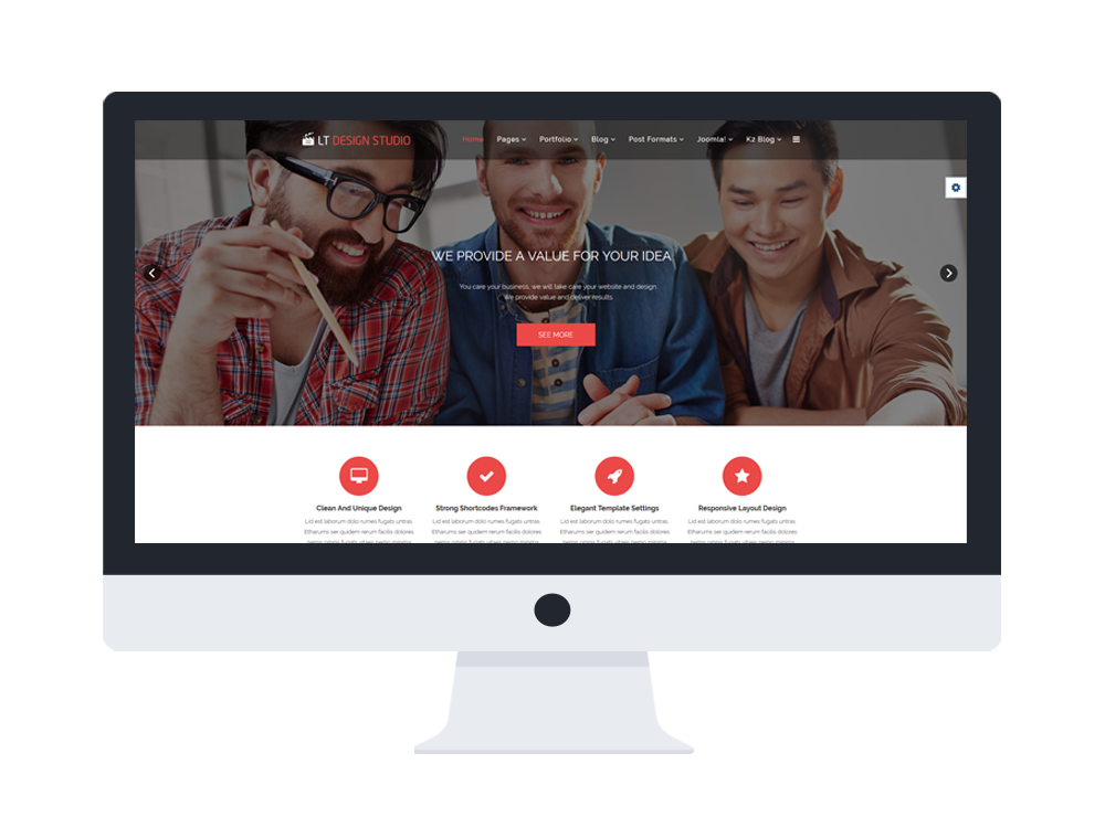 free joomla template for design agency