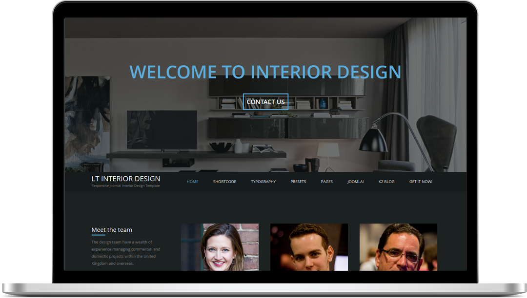 Free One Page Responsive Furniture Interior Design Joomla Template Lt Interior Design