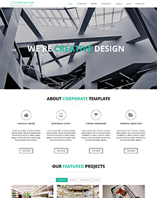 LT Corporation – Free One Page Responsive Business / Corporation Joomla template