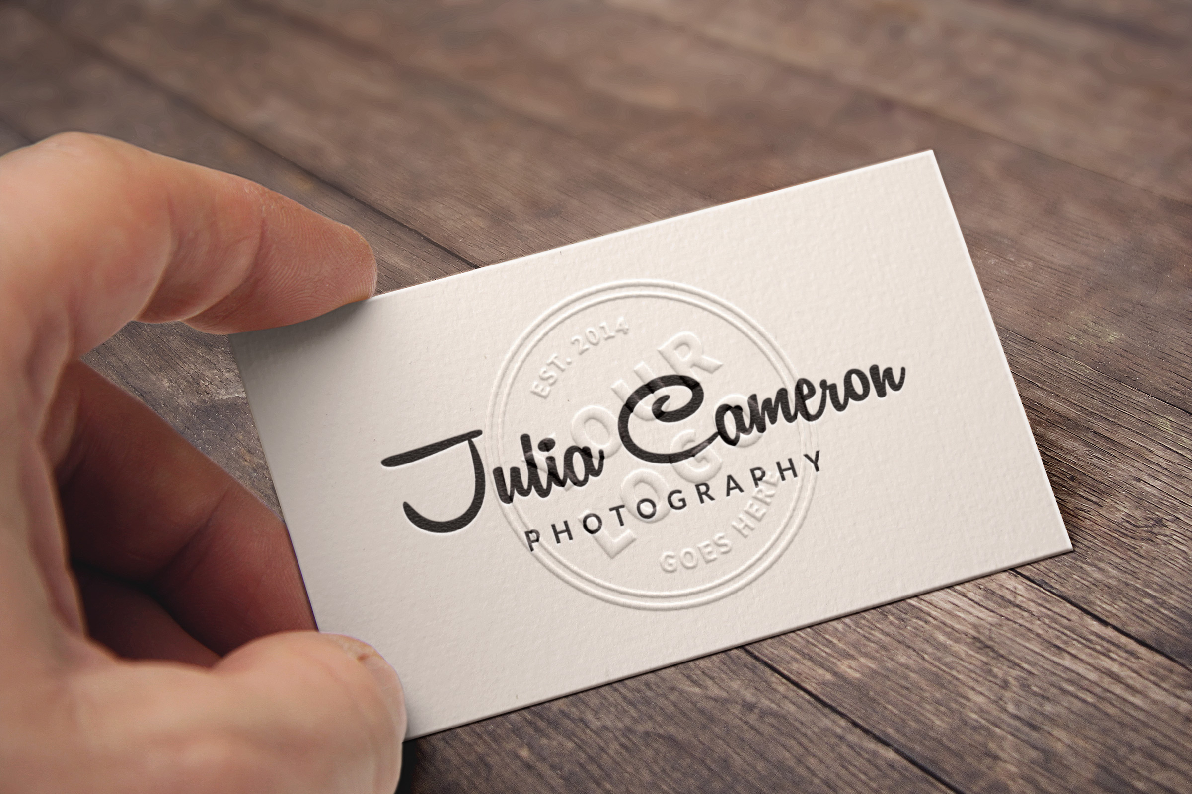 Embossed Free Business Card MockUp Template PSD - Responsive Joomla ...