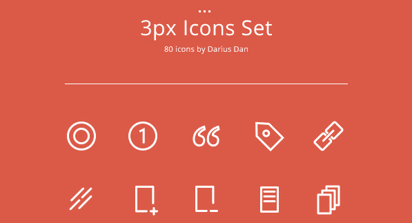 3px Free Icons Download Set