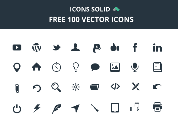 Icons Solid: 100 Free Vector Icons