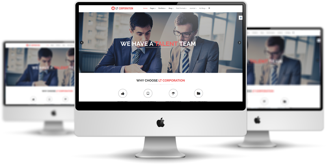 LT Corporation Onepage – Free One Page Joomla Corporate Website template