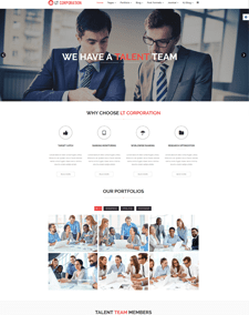 LT Corporation – Free Responsive Company / Corporation WordPress theme