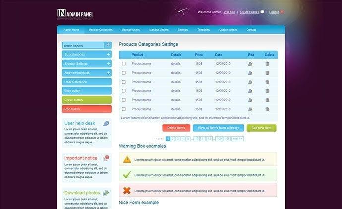20 Premium and Free Admin Templates for Web Designers