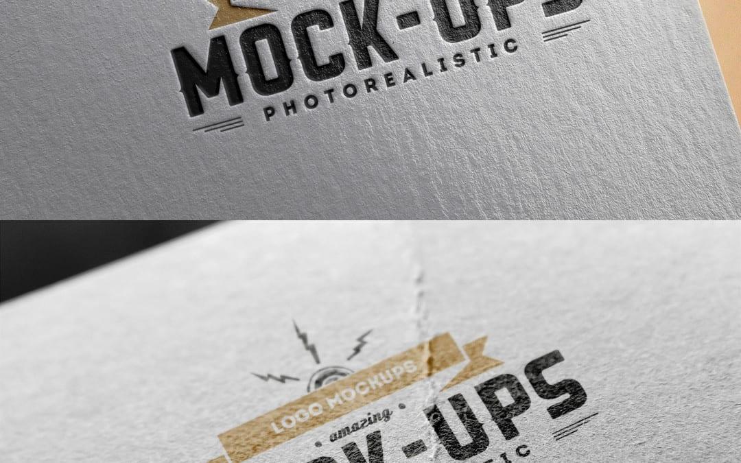 Paper Logo MockUps Edition