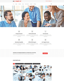 LT Start Up – Free Kichstart business, Start-up Joomla template