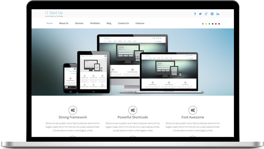 Lt start up free one page responsive business start up for Free responsive joomla templates