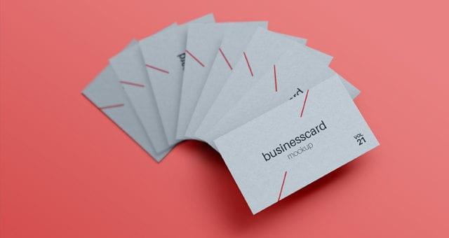FREE PSD Business Card MockUp Template Vol21