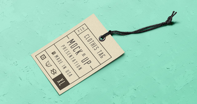 Psd Label Tag Mockup