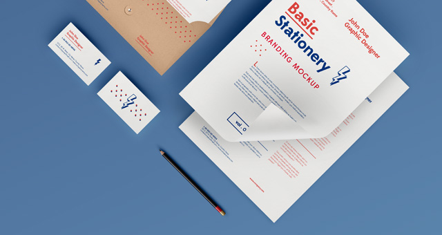 Basic Stationery Branding MockUp Free Download