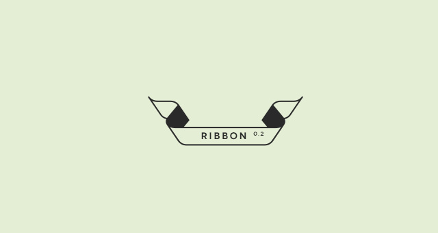 Outline Flat Ribbon Vector Set Responsive Joomla And