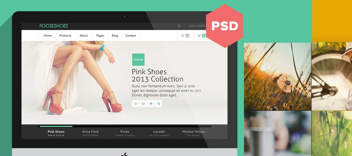 godaddy ecommerce templates - 20 stunning free website templates from dribbble