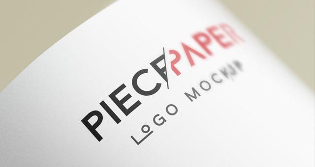 Paper Logo MockUp Template