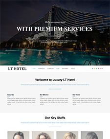 LT Hotel – Free One Page Responsive Resort / Hotel Joomla template