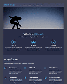 LT Blue Service Onepage – Free One Page Responsive Service Joomla template