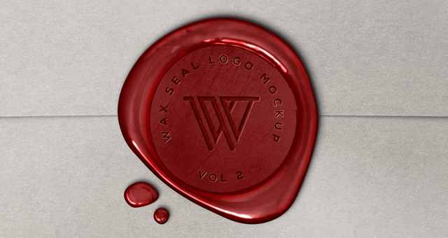 Wax Seal Logo Mock Up Template Vol2