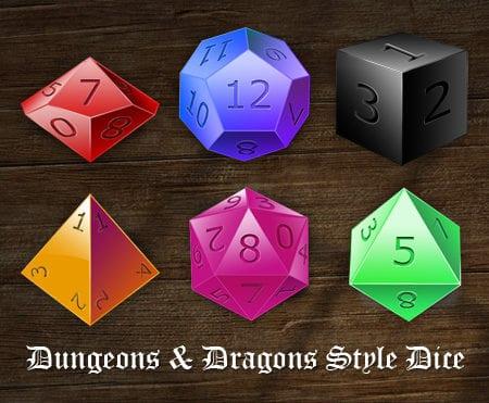Free RPG Dice Icons